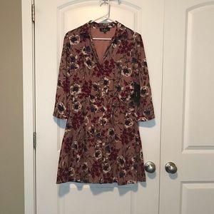 Pretty floral button up dress